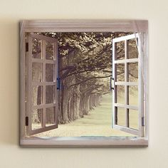 Window view Winter grey trees Landscape Home by OneDesign4U, $39.00