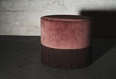 Layered's French Pouf Burnt Rose. Designed with a playful feeling, the French Pouf has an edgy expression. The decorative fringes make it a glamorous statement piece with bohemian vibes. Europe Free Shipping. See more at: http://layeredinterior.com/product/french-pouf/