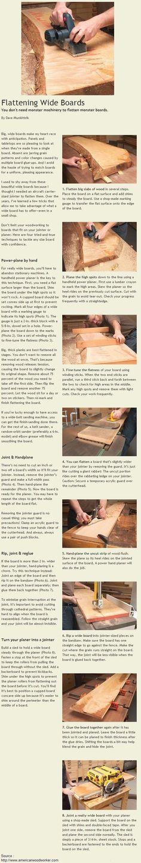 Flattening Wide Boards | WoodworkerZ.com