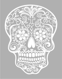 6-034-Sugar-Skull-Day-of-The-Dead-Die-Cut-Vinyl-Decal-Sticker-Choose-Color-39