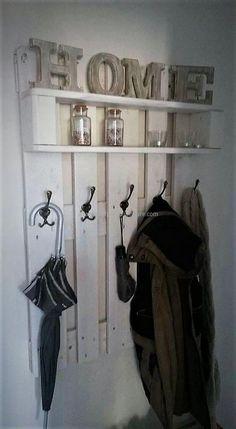 pallet shelf with hanger