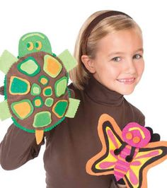 Butterfly & Turtle Puppets: Kids & Teens Projects: Shop | Joann.com