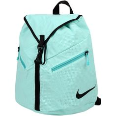Nike Rucksacks & Bumbags ($38) ❤ liked on Polyvore featuring bags, backpacks, backpack, accessories, nike, light green, backpacks bags, nike backpack, logo bags and blue backpack