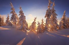 Ukrainian Carpathians become especially picturesque during the snowy winter when all the landscapes are like illustrations of winter fairy tales