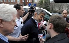 George Clooney arrested at protest.