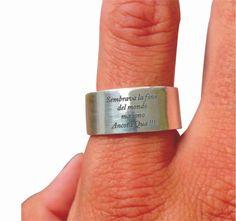 Fascetta anello personalizzato di MAMACHESTILE su Etsy