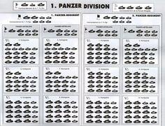 ORDRE DE MARCHE -  1.Panzer Division - Campagne de France - Mai-juin 1940