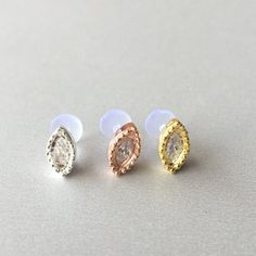 Items similar to Luxury Marquise CZ Diamond Helix Earring Cartilage Stud Tragus Piercing Cartilage Earring Piercing Conch Piercing Bioplast Bioflex on Etsy Tragus Piercings, Medusa Piercing Jewelry, Tragus Jewelry, Conch Earring, Cartilage Earrings, Cartilage Stud, Forward Helix Earrings, Silver Prices, Engraved Rings