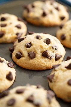 These Easy Chocolate Chip Muffins are just like mom used to make! The batter com… These Easy Chocolate Chip Muffins are just like mom used to make! The batter comes together in just minutes for an easy muffin that's perfect for breakfast or brunch. Muffin Recipes, Baking Recipes, Cookie Recipes, Dessert Recipes, Desserts, Best Chocolate Chip Cookie Recipe Ever, Chocolate Chip Recipes, Chocolate Muffins, Chocolate Chips
