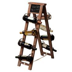Chalkboard Top Wine Rack