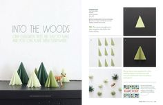 3-D Trees in Sweet Paul Magazine by S△R△H, via Flickr