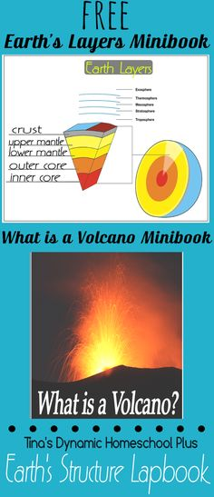 Volcano Book and Label Layers of Earth Mini Book Free Mini Volcano Book and Earth's Layers Mini Book @ Tina's Dynamic Homeschool PlusFree Mini Volcano Book and Earth's Layers Mini Book @ Tina's Dynamic Homeschool Plus Science Curriculum, Science Lessons, Science Education, Teaching Science, Science For Kids, Earth Science, Science Activities, Science And Nature, Earth For Kids