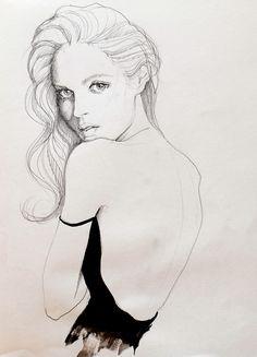 Fashion illustration - beautiful fashion drawing // Kasia Rei