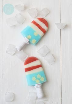 Stars and Stripes Popsicles