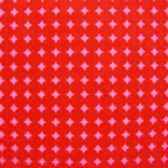 "Alexander Henry ""Mod Dot"" Pink Red 1 Yard 28 Inches 