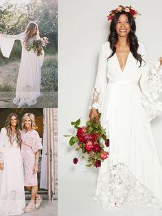 b40939cb038 A-Line V-neck Lace Sash Ribbon Belt Chiffon Floor-Length Wedding Dresses