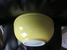 Vintage Un Numbered Yellow Pyrex Primary Bowl by HolySerendipity