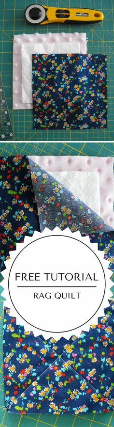How to make a rag quilt tutorial