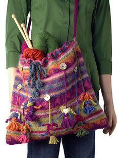 Doll Bag pattern by Berroco Design Team #knit # free_pattern