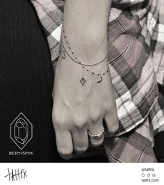 Loving this idea for a tat! And since it looks like a bracelet it would even be appropriate for the work place