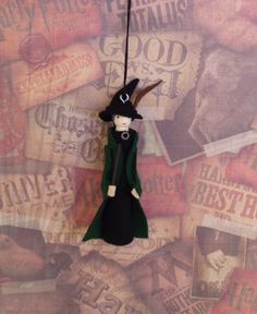 Professor McGonagall Clothespin Doll Ornament by LittleParade