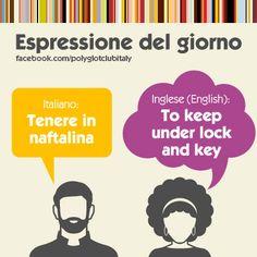 Italian / English idiom: to keep under lock and key