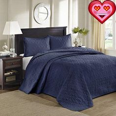 #limited #Quebec is the perfect bedspread to use as a layering piece or an alternative to your comforter for a new solid look. The classic stitch pattern pairs e...