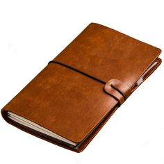 Office Supplies Intelligent Camel Leather Journal Embossed Handmade Notepad Notebook Blank Paper Diary Latest Fashion
