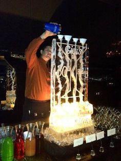 Martini Bar at La Cima Club with custom ice luge.