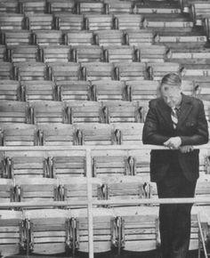 Gordie Howe looks down at the ice in 1979.