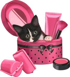 Tiger Images, Kitten Images, Kittens Cutest, Cats And Kittens, Cute Cats, Kitten Cartoon, Animation, Cute Backgrounds, Cat Supplies