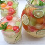 This refreshing and delicious melon sangria recipe is made with moscato wine, a variety of melons - including watermelon, cantaloupe and honeydew melons - honey, lime, grappa, sparkling water, and mint. The smell of ripe melons reminds me of warm summer days. And warm summer days are perfect for