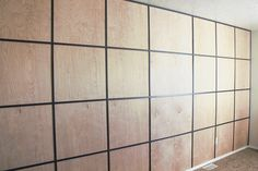 Easy DIY Plywood Panel Wall on a Budget Easy DIY Plywood Panel Wall on a Budget<br> Adding an accent wall doesn't have to break the budget. This trendy DIY for a plywood panel wall is easy to build and very cost-efficient. Plywood Wall Paneling, Wood Panel Walls, Laminate Flooring, Paneling Walls, Plywood Art, Plywood Design, Plywood Cabinets, Entryway Furniture, Plywood Furniture
