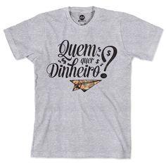 Camiseta SBT Quem Quer Dinheiro? Type