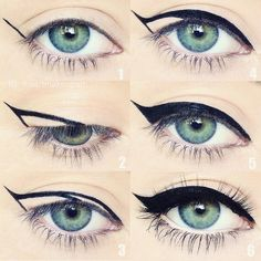 "Motives Cosmetics on Instagram: ""A step-by-step guide to the perfect cateye by @iheartmakeupart Do you guys love this or what??  #Repost Cat eye cheat sheet  Some of you have been telling me you have problems creating a wing and asking for tips so here is a little hack that might help! I did this pictorial awhile ago and it's all around the Internet, but for those who haven't seen it yet I hope you find it helpful!"""