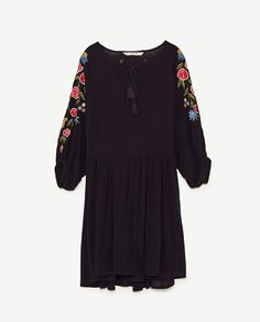 Image 8 of EMBROIDERED MULTICOLOURED DRESS from Zara