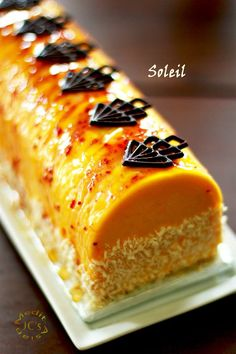 Exotic fruits, mangoes, and coconut mousse roll