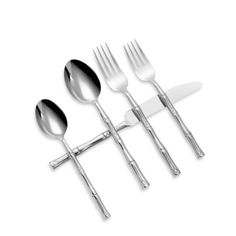 Hampton Forge Bamboo Mirror 20-Piece Flatware Set - BedBathandBeyond.com