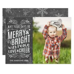Rustic Snowflakes Holiday Photo Card