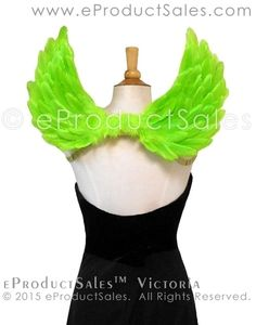 eProductSales Grey VICTORIA Feather angel Wings