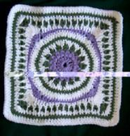 framed flower ~ free pattern ~ love the colors