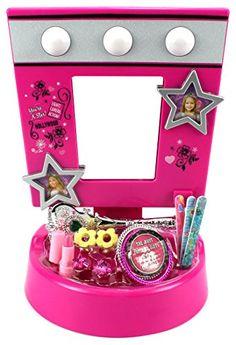 Hollywood Star Children's Pretend Play Battery Operated Toy Beauty Mirror Vanity Playset w/ Accessories, Flashing Lights, Sounds >>> Details can be found by clicking on the image.