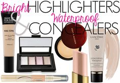 Summer Makeup Highlighters & Concealers! Waterproof options to keep you fresh all season! #beauty #makeup