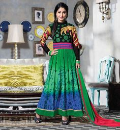 HINA KHAN BOLLYWOOD ACTRESS SALWAR KAMEEZ ANARKALI SUITS DESIGNS INDIAN DRESSES FOR LADIES PARTY WEAR BEST OF 2015 COLLECTION