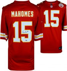 0f73fd4d474 Patrick Mahomes Kansas City Chiefs Autographed Red Nike Game Jersey