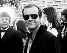 A young Jack Nicholson arrives at the Academy Awards as a Best Actor nominee on April 2, 1974.