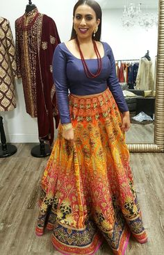 Here's a closer look at our beautiful client Subah in her stunning couture digital print lehenga for her bridal shower! ✨The possibilities of creating your dream outfit are endless at Wellgroomed! All of our pieces can be customized to meet your personal style (fit, colour, fabric etc) Email us at sales@wellgroomed.ca to set up a consultation in person or over the telephone/skype with one of our fashion consultants!  #allthingsbridal #indianfashion #wedding #bride #style #fashion #designer