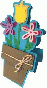 Silhouette Design Store - View Design #79134: terra cotta flower pot card