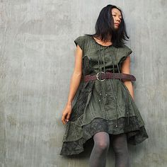 Artistic Collection...Sun and rain pleated dress by cocoricooo,