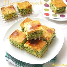 The colors on your plate: zucchini and feta pie Yummy Veggie, Veggie Recipes, Vegetarian Recipes, Healthy Recipes, Veggie Meals, I Love Food, Good Food, Yummy Food, Special Recipes